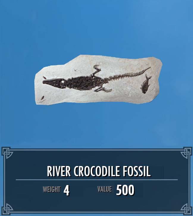 River Crocodile Fossil