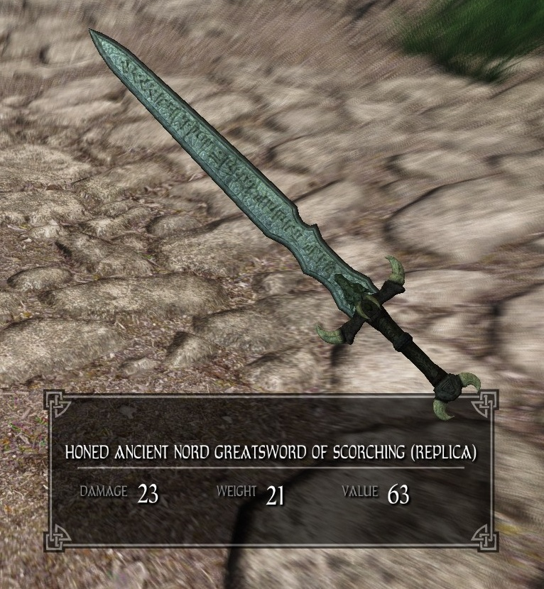 Honed Ancient Nord Greatsword of Scorching