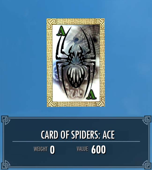 Card of Spiders: Ace