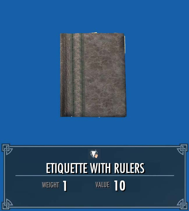 Etiquette with Rulers
