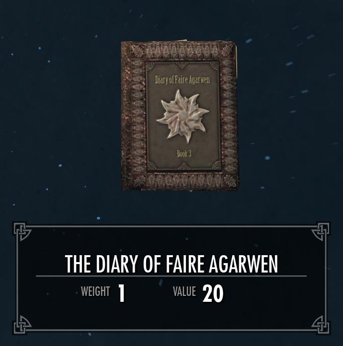 The Diary of Faire Agarwen