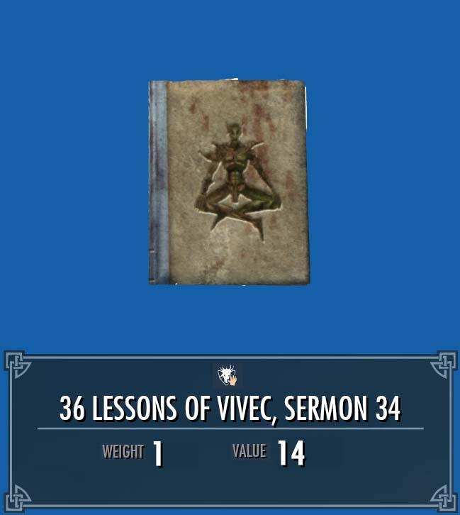 36 Lessons of Vivec, Sermon 34