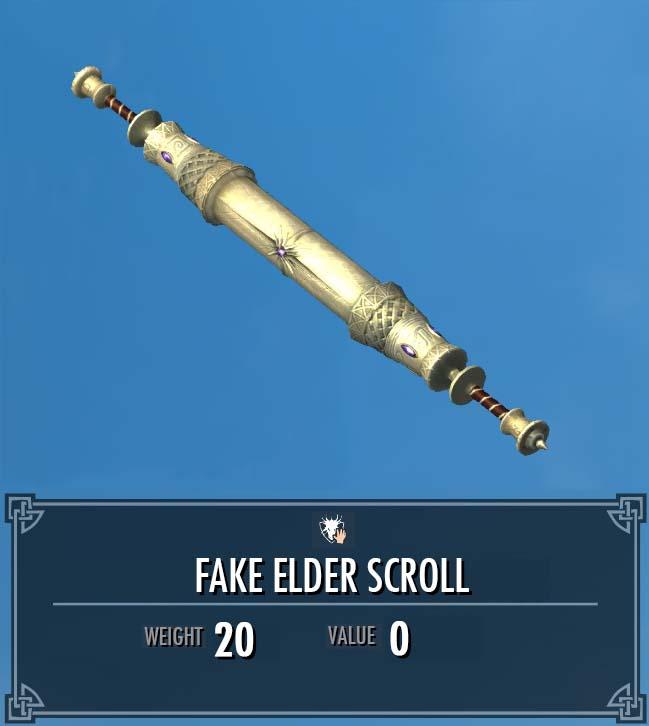 Fake Elder Scroll