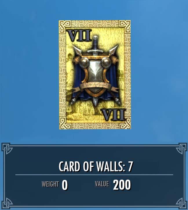Card of Walls: 7