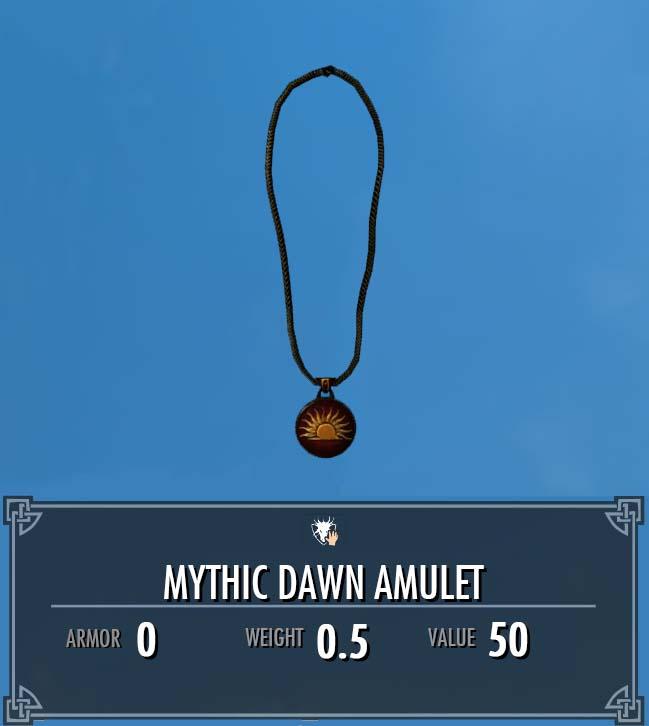 Mythic Dawn Amulet