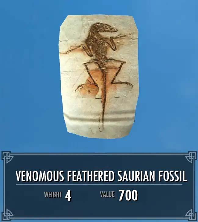 Venomous Feathered Saurian Fossil