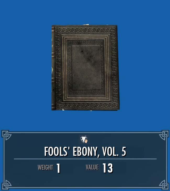 Fools' Ebony, Vol. 5