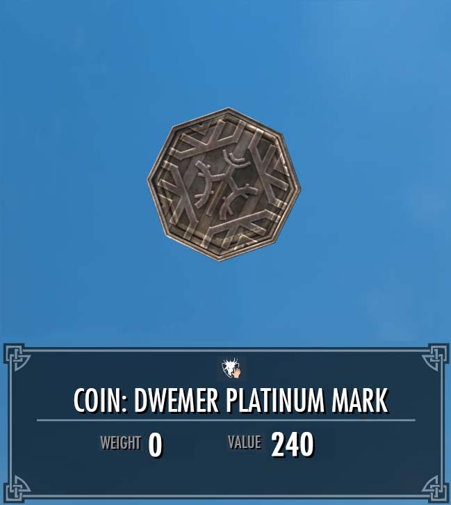 Coin: Dwemer Platinum Mark