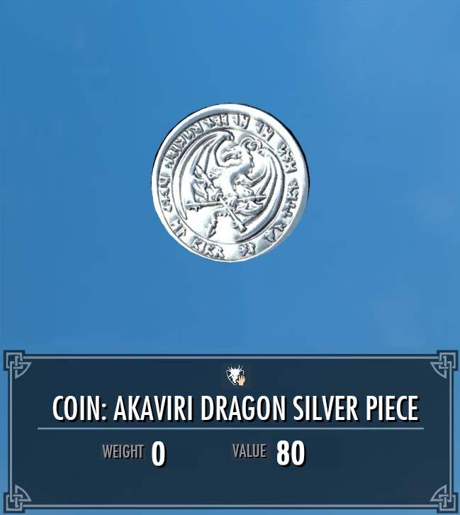 Akaviri Dragon Silver Piece