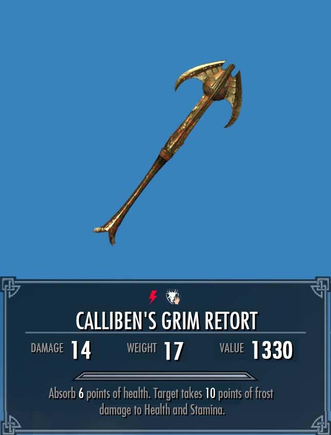 Calliben's Grim Retort