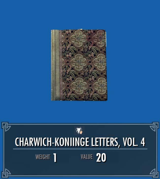 Charwich-Koniinge Letters, Vol. 4