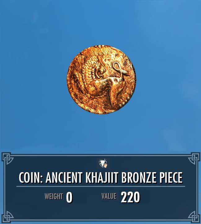 Coin: Ancient Khajiit Bronze Piece
