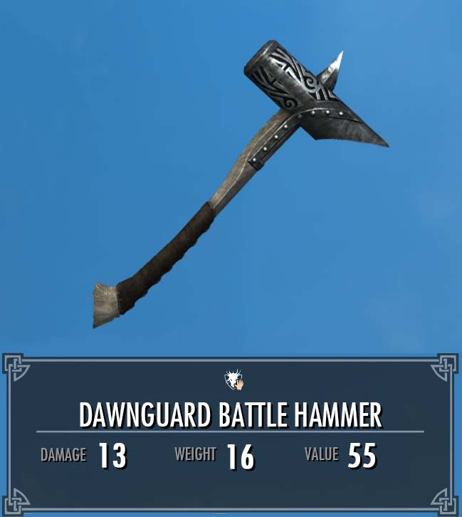 Dawnguard Battle Hammer