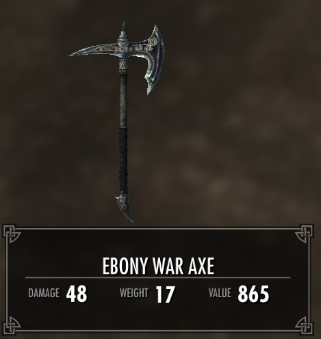 Ebony War Axe