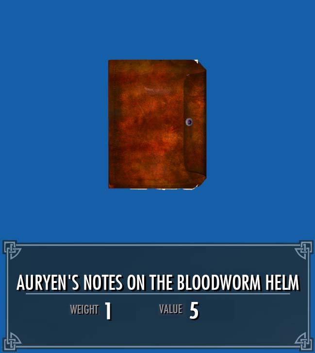 Auryen's Notes on the Bloodworm Helm