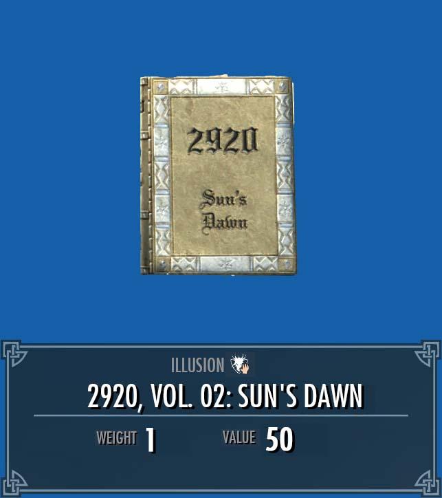 2920, Vol. 02: Sun's Dawn