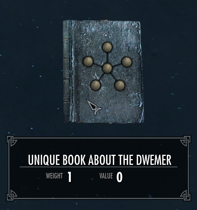 Unique Book About the Dwemer