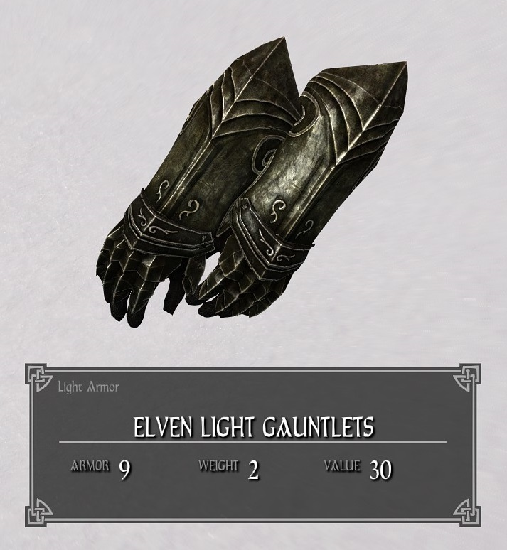 Elven Light Gauntlets