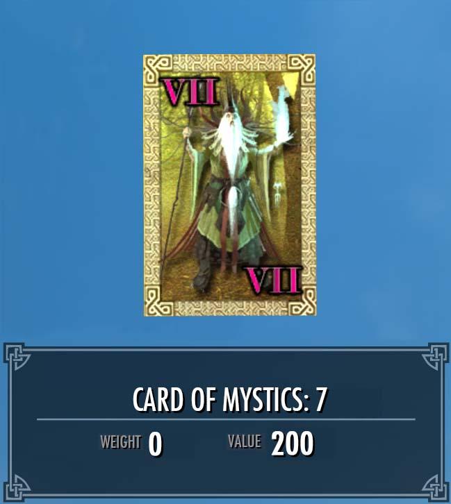 Card of Mystics: 7