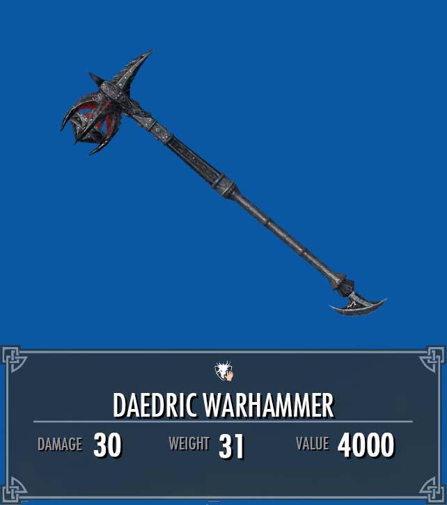 Daedric Warhammer