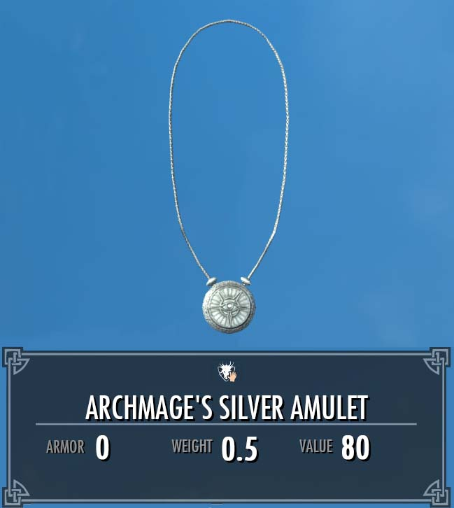 Archmage's Silver Amulet