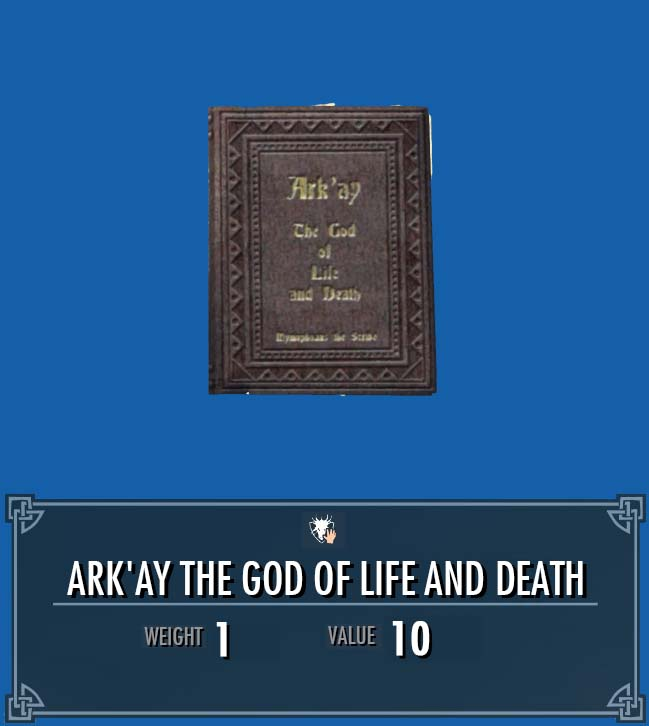 Ark'ay the God of Life and Death