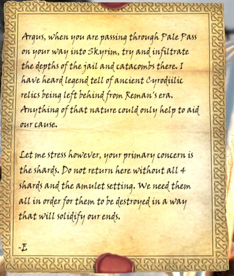 Letter to Argus