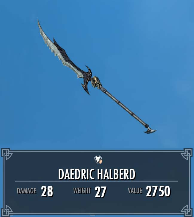 Daedric Halberd (Immersive Weapons)