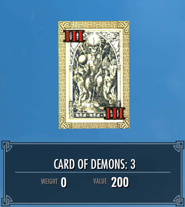 Card of Demons: 3