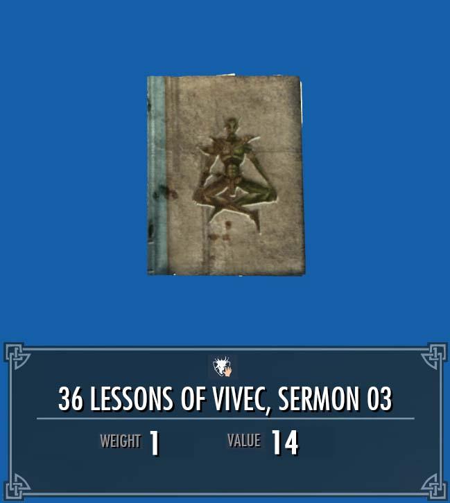 36 Lessons of Vivec, Sermon 03