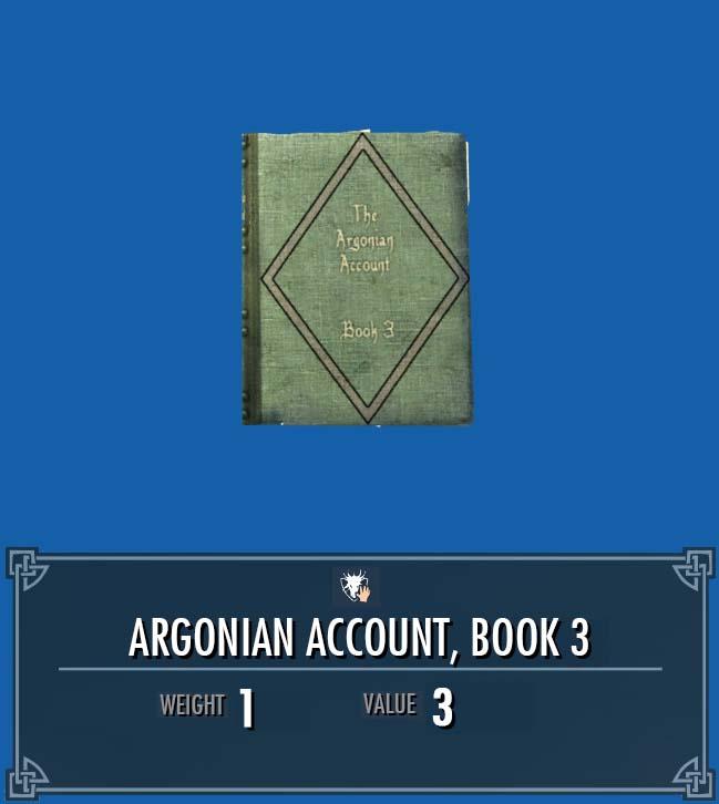 Argonian Account, Vol. 3