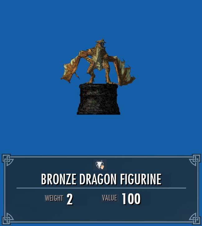 Bronze Dragon Figurine