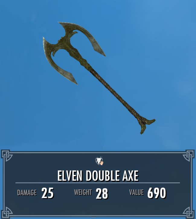 Elven Double Axe