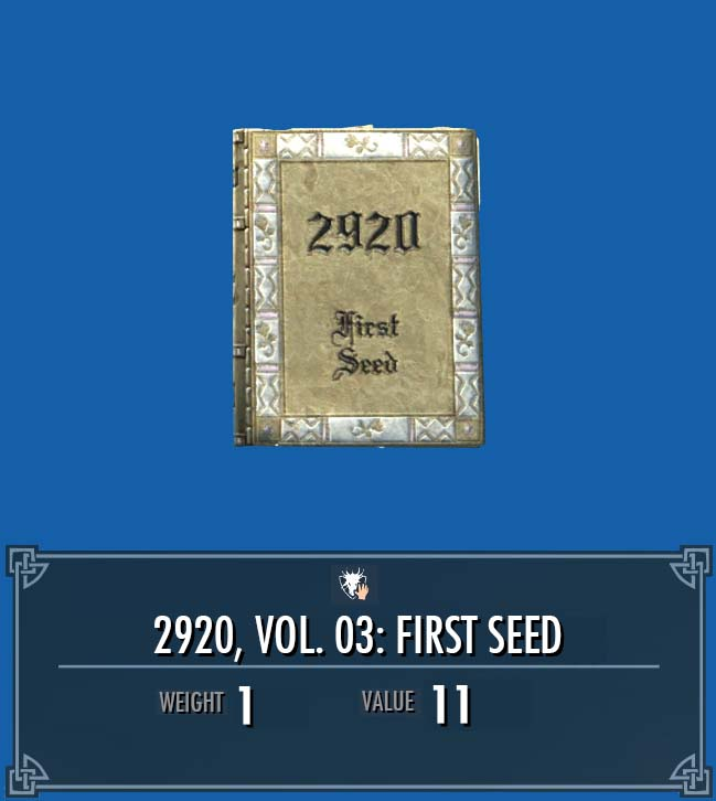 2920, Vol. 03: First Seed