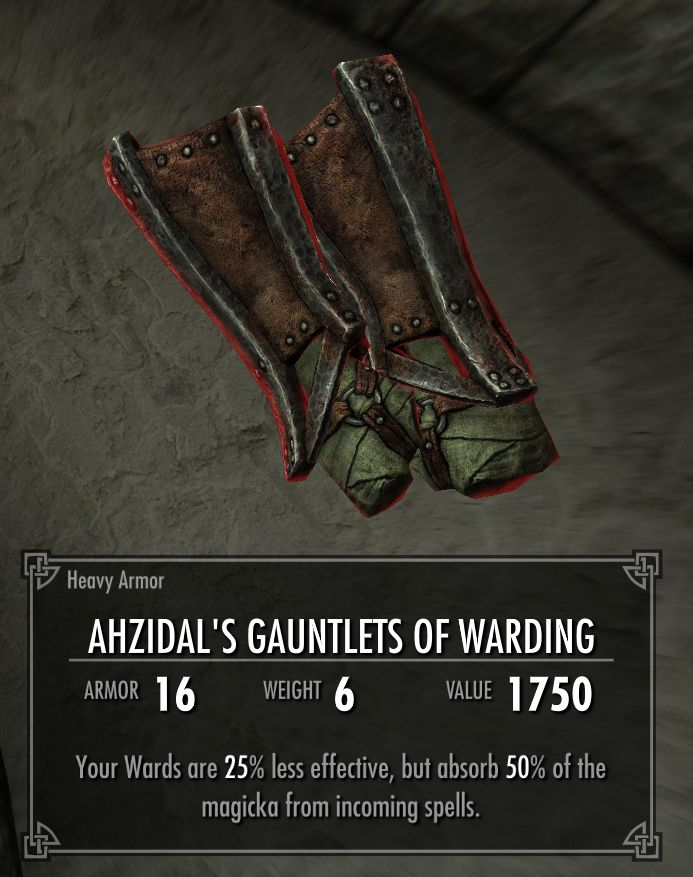 Ahzidal's Gauntlets of Warding