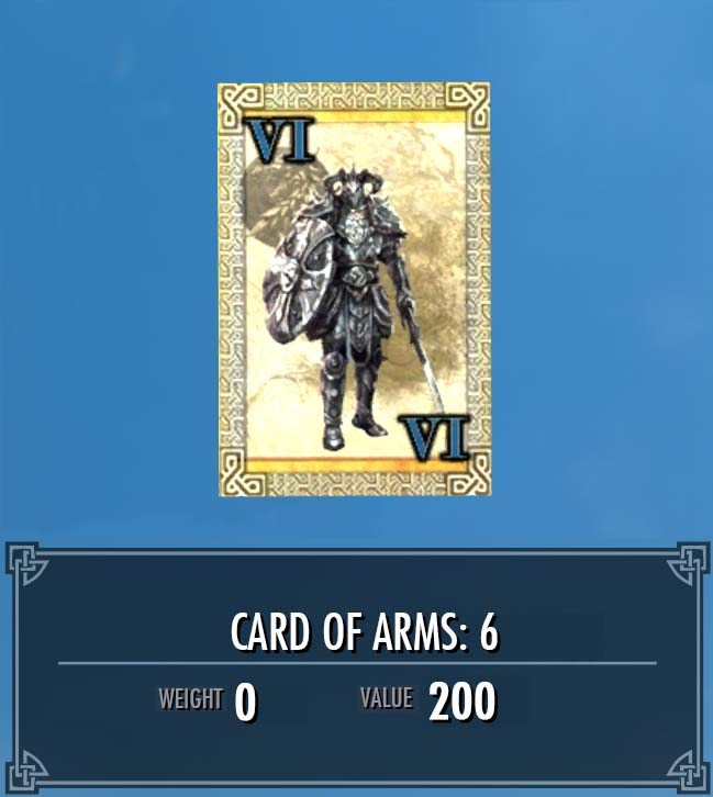 Card of Arms: 6