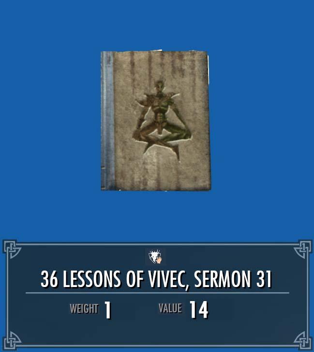 36 Lessons of Vivec, Sermon 31