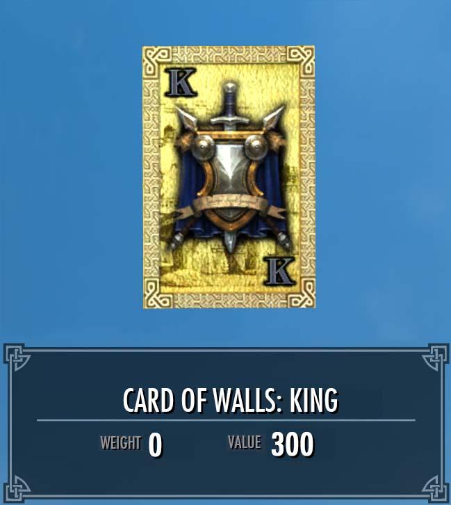 Card of Walls: King