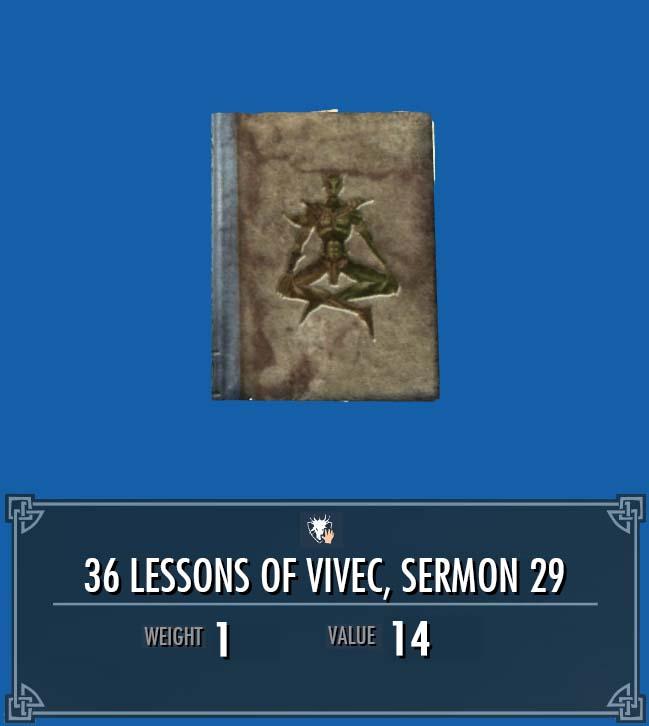 36 Lessons of Vivec, Sermon 29