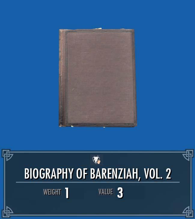 Biography of Barenziah, Vol. 2