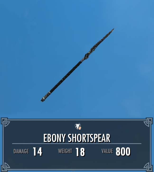 Ebony Shortspear