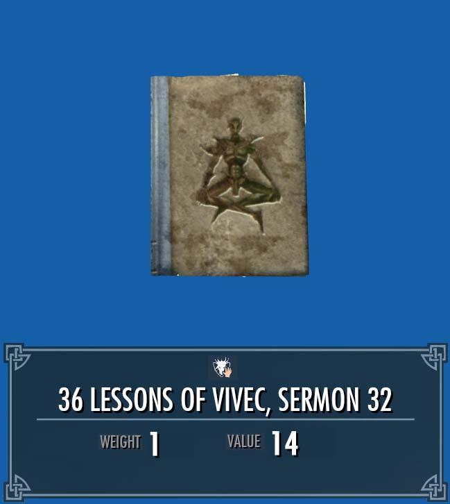 36 Lessons of Vivec, Sermon 32