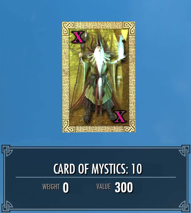 Card of Mystics: 10