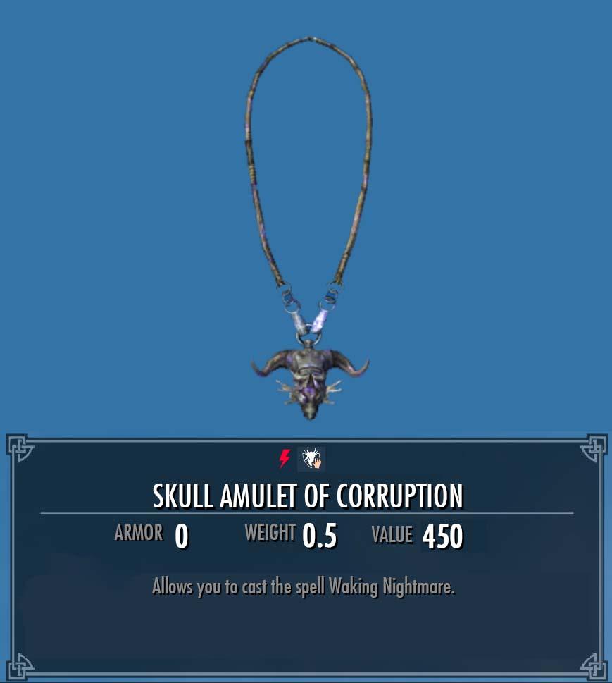 Skull Amulet of Corruption