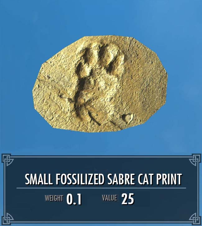 Small Fossilized Sabre Cat Print