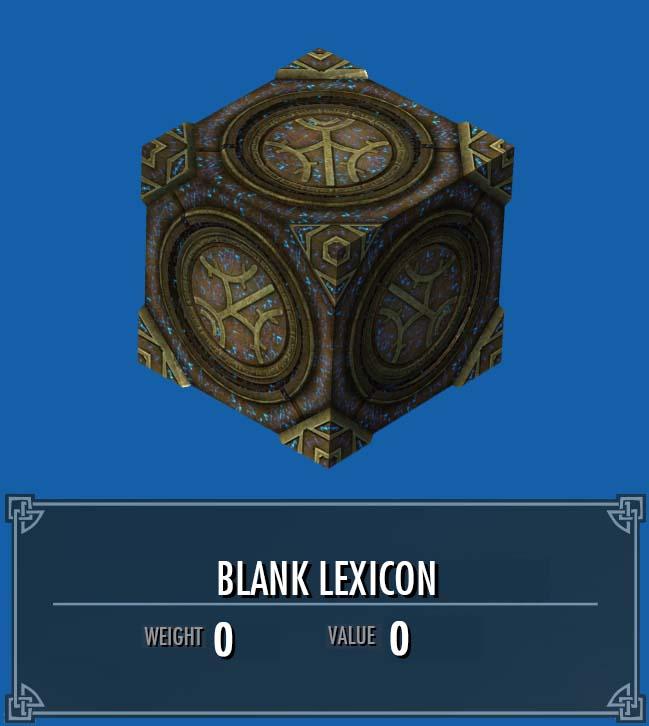 Blank Lexicon