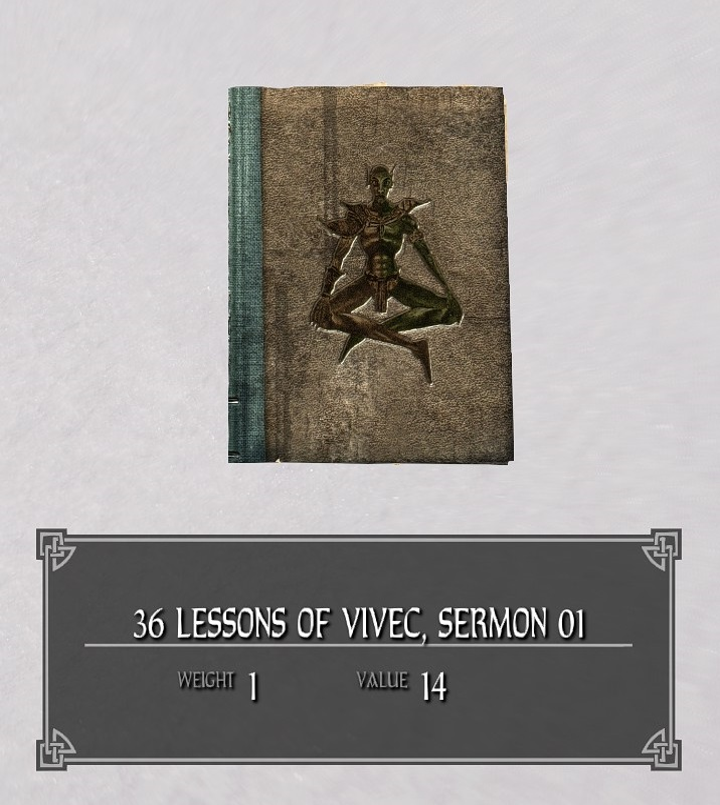 36 Lessons of Vivec, Sermon 01