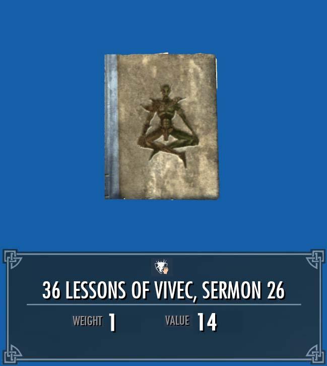 36 Lessons of Vivec, Sermon 26