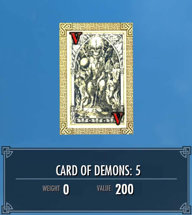 Card of Demons: 5