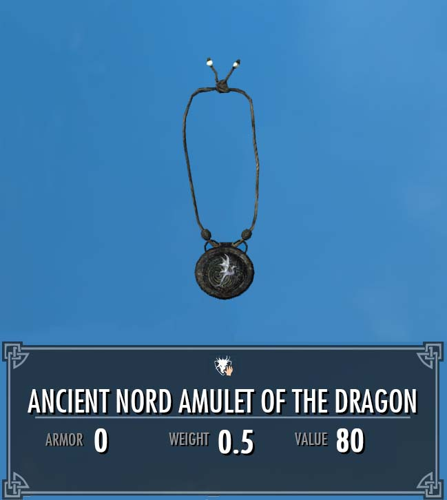 Ancient Nord Amulet of the Dragon